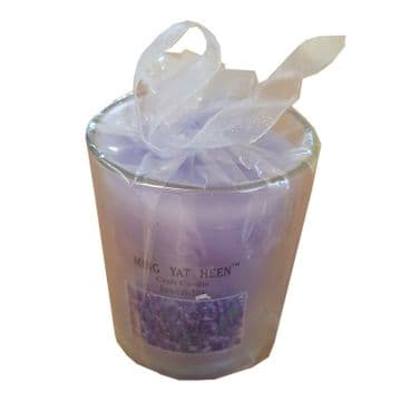 3 x LAVENDER SCENTED WAX CANDLES in JAR
